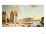 The Ile Saint-Louis from the Place De Greve, circa 1757 Giclee Print by Nicolas Raguenet