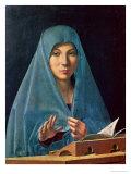 Marian ilmestys, 1474-75 Giclee-vedos tekijänä  Antonello da Messina