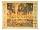 A View of the Fireworks and Illuminations at His Grace the Duke of Richmond's at Whitehall Giclee Print