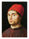 Portrait of a Man, circa 1475 Reproduction procédé giclée par Antonello da Messina