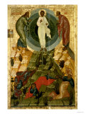 The Transfiguration of Our Lord, Russian Icon from the Holy Theotokos Dormition Church Giclee Print
