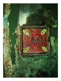 Bronze Plaque with Enamels from Sutton Hoo, 7th Century Giclee Print