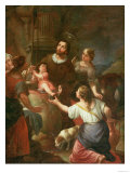St. Isidore and the Miracle at the Well, School of Madrid Giclee Print