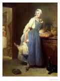 The Kitchen Maid with Provisions, 1739 Giclee Print by Jean-Baptiste Simeon Chardin