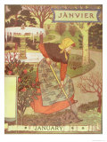 January Giclee Print by Eugene Grasset