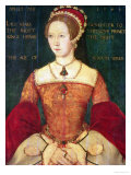 Portrait of Mary I or Mary Tudor (1516-58), Daughter of Henry VIII, at the Age of 28, 1544 Giclee Print by Master John Of Samakov 