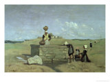 Breton Women at the Well Near Batz, circa 1842 Giclee Print by Jean-Baptiste-Camille Corot