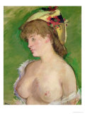 The Blonde with Bare Breasts, 1878 Giclee Print by Édouard Manet