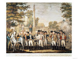 The British Surrendering to General Washington (1732-99) after Their Defeat at Yorktown, Virginia Giclee Print