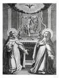 St. John of the Cross and St. Theresa of Avila Giclee Print