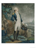 Portrait of the Marquis De La Fayette (1757-1834) Commander of the National Guard, 1790 Giclee Print by Philibert-Louis Debucourt