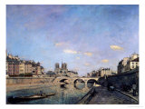 The Seine and Notre Dame in Paris, 1864 Giclee Print by Johan-Barthold Jongkind