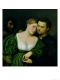 The Venetian Lovers Giclee Print by Paris Bordone