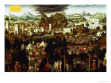 The Judgement of Paris and the Trojan War, 1540 Giclee Print by Matthias Gerung