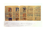 Copy of a Fragment of the Dresden Codex Showing Mayan Astronomical Calculations Giclee Print