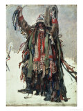 "A Shaman, Sketch for ""Yermak Conquers Siberia,"" 1893 Giclee Print by Vasilii Ivanovich Surikov"