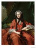 Portrait of Madame Maria Leszczynska (1703-68) 1748 Giclee Print by Jean-Marc Nattier