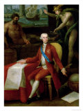 Portrait of Jose Monino the Count of Floridablanca Giclee Print by Gregorio Ferro