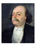 Portrait of Gustave Flaubert (1821-80) 1868-81 Giclee Print by Eugene Giraud