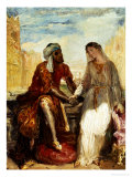 Othello and Desdemona in Venice, 1850 Reproduction proc&#233;d&#233; gicl&#233;e par Theodore Chasseriau