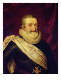 Portrait of Henri IV (1553-1610) King of France Giclee Print by Frans Pourbus II
