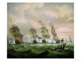 Admiral Sir Edward Hawke Defeating Admiral M. De Conflans in the Bay of Biscay Giclee Print by Thomas Luny
