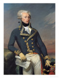 Portrait of Gilbert Motier (1757-1834) the Marquis De La Fayette as a Lieutenant General, 1791 Giclee Print by Joseph Desire Court