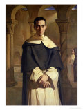 Portrait of Jean Baptiste Henri Lacordaire (1802-61), French Prelate and Theologian, 1841 Giclee Print by Theodore Chasseriau