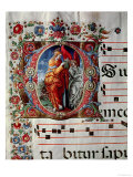 The Annunciation, Historiated Initial &quot;O,&quot; Detail of a Page from an Antiphonal, circa 1473-79 Giclee Print by Liberale 
