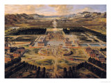 Perspective View of the Gardens and Chateau of Versailles Seen from the Paris Avenue, 1668 Giclee Print by Pierre Patel