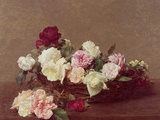 A Basket of Roses, 1890 Giclee Print by Henri Fantin-Latour