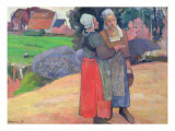 Breton Peasants, 1894 Giclee Print by Paul Gauguin
