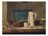 Still Life of Pipes and a Drinking Glass Giclee Print by Jean-Baptiste Simeon Chardin