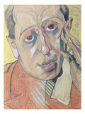 Portrait of a Man, 1924 (Pastel on Paper) Reproduction procédé giclée par Stanislaw Ignacy Witkiewicz