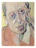 Portrait of a Man, 1924 (Pastel on Paper) Reproduction giclée Premium par Stanislaw Ignacy Witkiewicz