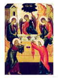 The Holy Trinity, Russian Icon, Novgorod School, 15th Century Giclee Print