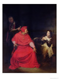 Joan of Arc (1412-31) and the Cardinal of Winchester in 1431, 1824 Giclee Print by Hippolyte Delaroche