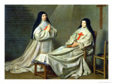Mother Catherine-Agnes Arnauld (1593-1671) and Sister Catherine of St. Suzanne Champaigne (1636-86) Giclee Print by Philippe De Champaigne