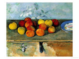Still Life of Apples and Biscuits, 1880-82 Giclee Print by Paul Cézanne