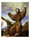St. Francis of Assisi (circa 1182-1220) 1642 Giclée-tryk af Jusepe de Ribera