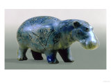 Statuette of a Hippopotamus, 11th-12th Dynasty, circa 2000 BC (Glass) Giclee Print