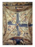 View of the Ceiling of the Chapel of the Tinel with Scenes from the Life of St. Martial, 1344-45 Giclee Print by  Matteo di Giovanetto da Viterbo