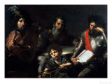 The Four Ages of Man, circa 1626-7 Gicl&#233;e-Druck von Valentin de Boulogne 