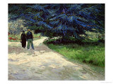 Couple in the Park, Arles, c.1888 Giclee Print by Vincent van Gogh
