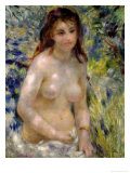 Study. Torso, Effect of Sunlight, circa 1875-76 Giclee Print by Pierre-Auguste Renoir