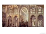 The Interior of Toledo Cathedral, 1856 Giclee Print by Francisco Hernandez Y Tome