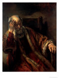 An Old Man in an Armchair, 17th Century Giclee Print by Rembrandt van Rijn