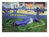 Rest in the Shade Giclee Print by Giovanni Segantini