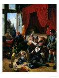 The Assassination of Brion, Tutor of Prince of Conti (1558-1614) at St. Bartholomew's Day Massacre Giclee Print by Joseph-Nicolas Robert-Fleury
