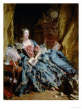 Madame De Pompadour Giclee Print by Francois Boucher